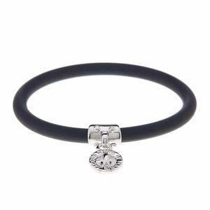 Marc Jacobs Black Chunky Rubber Bangle Bracelet